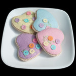 Pastel Heart Cookies Felt Food