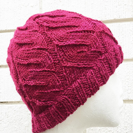 Child , Teen, Adult Med , Wool, Beanie Hat, Ruby Red, Hand Knit