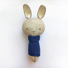 Bunny Rattle Navy Jumper
