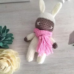 Chocolate Easter Bunny with Pink Scarf-Soft Toy