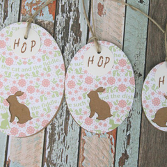 Easter Tags ~ Bunny Tags ~ Rabbit Tags ~ Baby Shower Tags ~ New Baby Tags