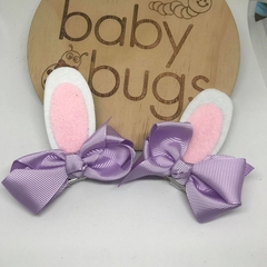 "Bunny ear hair clip bow Pastel  3"" Easter"