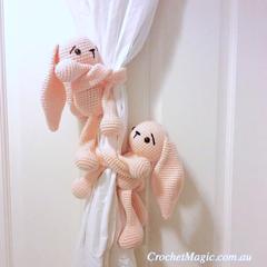 Bunny curtain tie back
