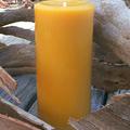 Pure Beeswax Pillar Candle, Classic Design, 16cmx8cm