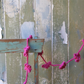 New Baby Gift Pink Crochet Garland ~ Flower Bunting ~ Floral Garland