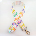 Colored Easter bunny lanyard / ID holder / badge holder