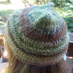 knitted child's beanie made from wool and soy blend yarn ON SALE!