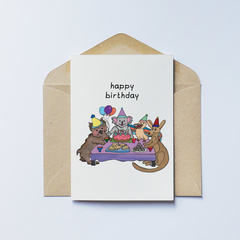 Aussie Animals Birthday Card