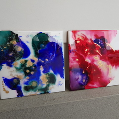 Galaxy Dreams - set of 2 original paintings