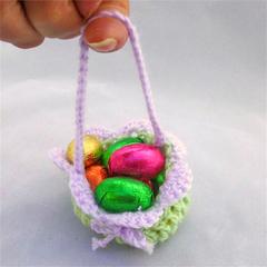 Easter egg basket; jewellery drawstring gift bag; party treat bag; soap saver