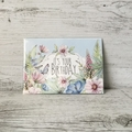 Mini size Floral Birthday Card - LCC027 - Watercolour florals - Living Contented