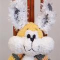 Bunny - hand crocheted bunny rabbit ; Easter, safe, washable, easter, unisex