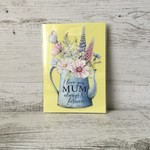 Mini Mother's Day Card - Mum LCC021 - Watercolour florals - Living Contented