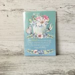 Mini Christian Birthday Card - LCC024 - Watercolour florals - Living Contented