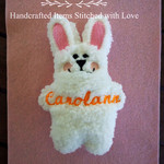 Personalised Plush EASTER BUNNY & EGG, embroidered name