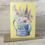 Mother's Day Card - Mum LCC021 -feminine Watercolour florals - Living Contented