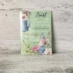 Mini Christian Scripture Card - Trust LCC023 Watercolour - Living Contented