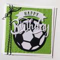Soccer Birthday card, Soccer ball, Football, Happy birthday greeting card.
