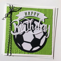 Soccer Birthday card, Soccer ball, Football, Happy birthday greeting card.