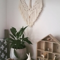 Macrame Wall Hanging, White, Wall Decor