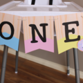 1st Birthday Donuts Custom Made ONE Bunting Highchair Banner