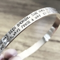 Hand Stamped Cuff, Inspirational Quote, Inspiration Jewellery, Quote Jewellery