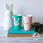 Easter Bunny  Plastic Tumbler Cup can be personalise with childs name