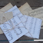 vintage paper squares 10cm x 10cm for art and craft