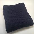 Knitted Baby Pram Blanket - Navy Blue Pure Australian Merino Wool