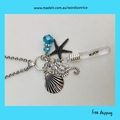 WE LOVE YOU - words on rice ocean necklace