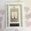 'Cutting the Cake' Wedding Card