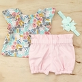 Bubble Shorties - Baby Pink - Cotton - Bloomers - Girl - Sizes 000-3