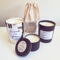 Valentine's Collection, Strawberry Large Scented Soy Candle, prelabelled, pun