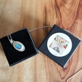 Boulder opal sterling silver pendant, necklace, unisex