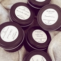 Salted Caramel Scented 100% soy wax travel tin candle. 4oz, 92g, small, gift