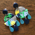 Under the sea, Polymer clay Statement dangles