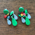 Floral Polymer Clay Statement Dangles