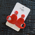 Red sparkle hearts (large heart dangle)