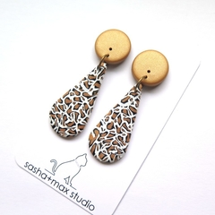 Leopard Print Teardrop earrings by Sasha+Max studio