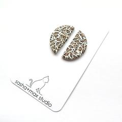 Leopard Print semi circle  earrings by Sasha+Max studio