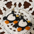 Paper Earrings - Little Penguins
