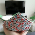 Hot Bowl Cozy | Hot Bowl Holder | Paws Green Spots | Reversible | Free Shipping