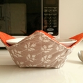 Hot Bowl Cozy | Hot Bowl Holder | Brown and Orange | Reversible | Free Shipping