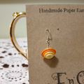 Paper Earrings - Oranges - Bicone