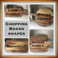 Cooked with love custom surname kitchen chopping board.