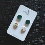 Green and White/Gold(Double stud pack)