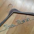 Crystal OR Pearl edged hanger for that touch of class on your wedding day