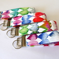 Wrist Key Fob / Keyring - Watercolour Drops
