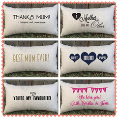 Spoil mum this Mother's Day  with a Mom/Mum/Grandma/nanny personalised pillow