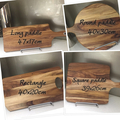 Antler horns design with heart, names & date custom chopping board